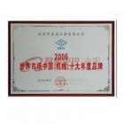 世界市场中国(机械)十大年度品牌
